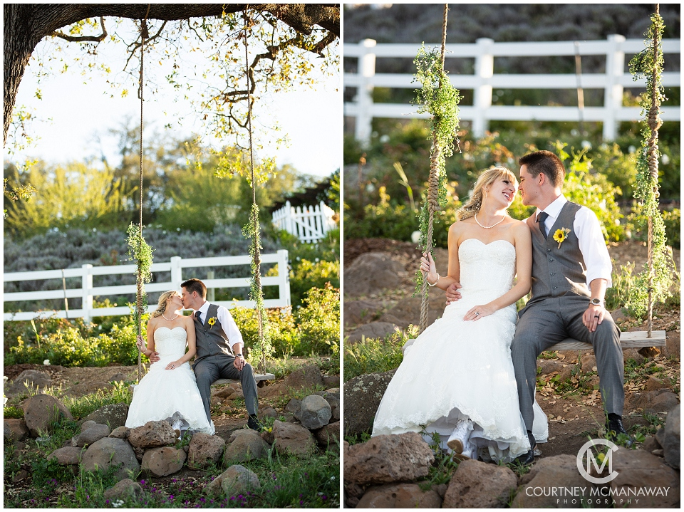 swing portraits forever and always farm wedding day