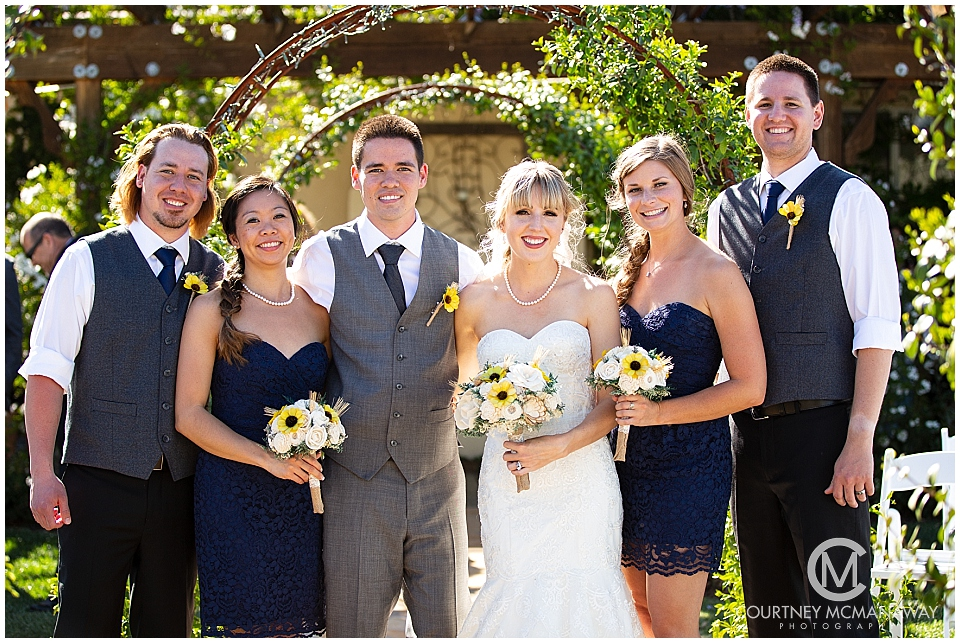 Forever and Always Farm wedding bridal party