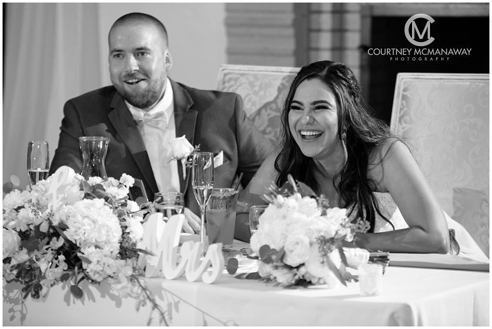 Wedgewood Menifee Lakes wedding bride and groom toasts