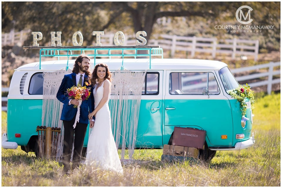 bride-and-groom-boho-wedding-photobus